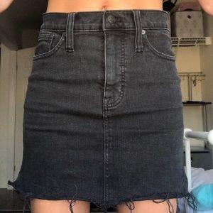 Madewell Black Jean Skirt